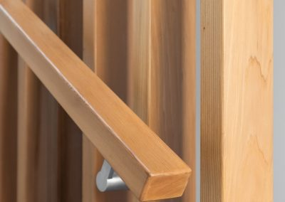 Cedar handrail and screen
